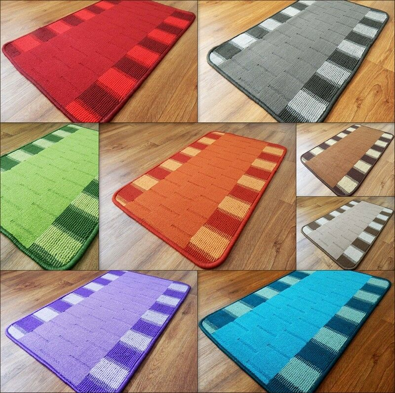 Cheap Washable Rugs Uk: New Modern Door Mats Washable Kitchen Rugs Hall Runners