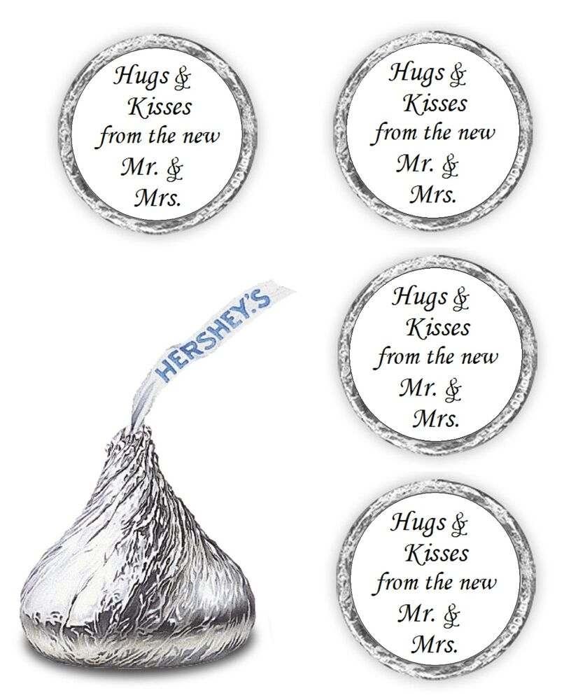 108 Hugs Kisses From The New Mr Mrs Hershey Kiss Wedding Stickers