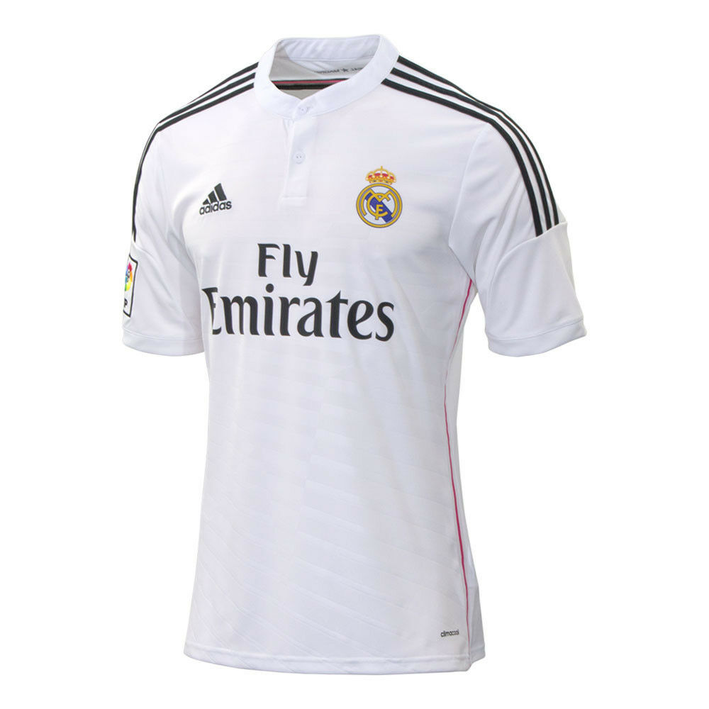 Adidas real madrid 2014 2015 home soccer jersey brand new white pink