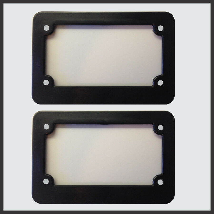 Motorcycle Scooter Blank Plastic License Plate Frame Set