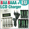 8 AA 8 AAA 1350 3000 mAh Go!Green + Quick LCD Rechargeable battery charger EU