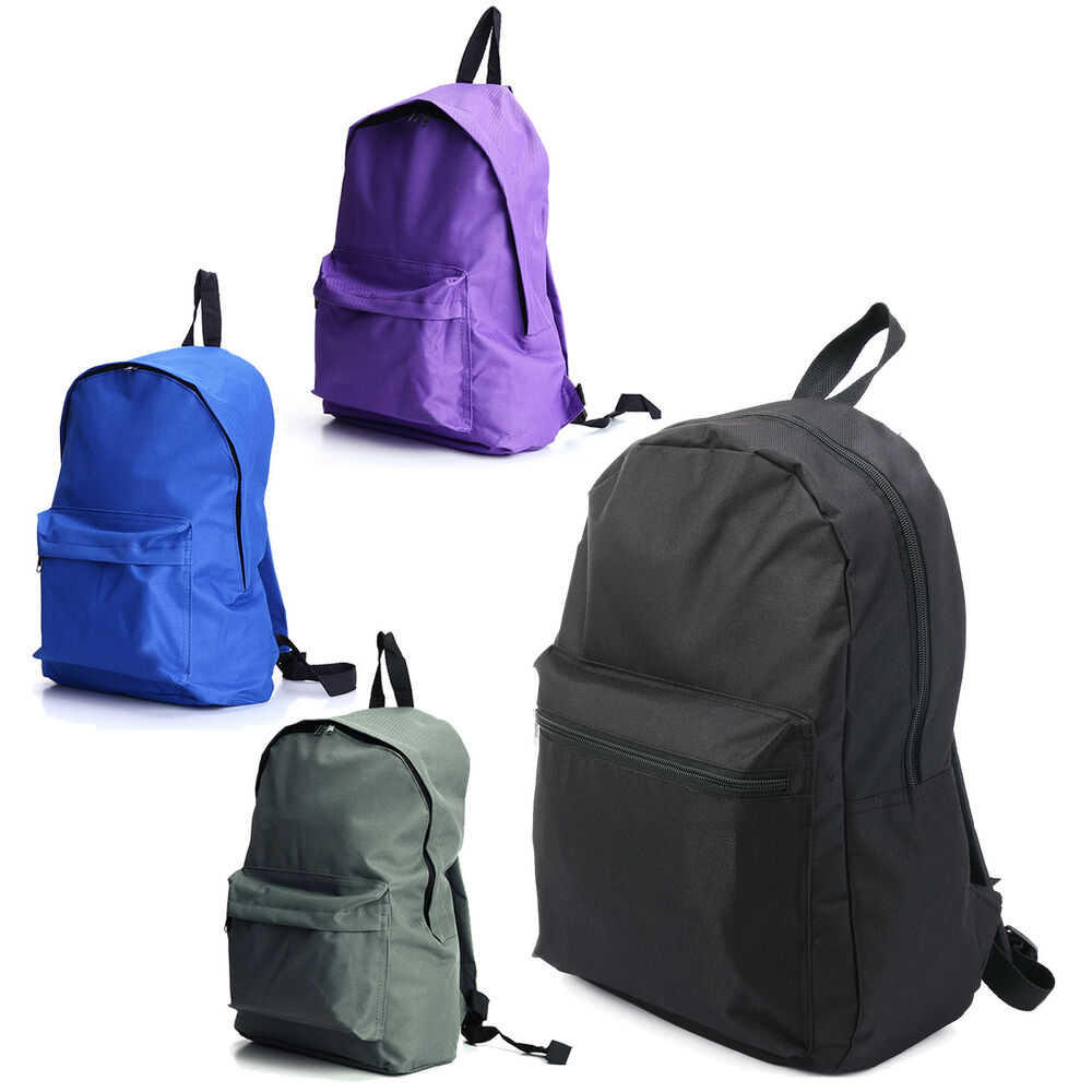 Mens Womens Canvas Backpack Casual Travel Hiking Laptop Bag  eBay
