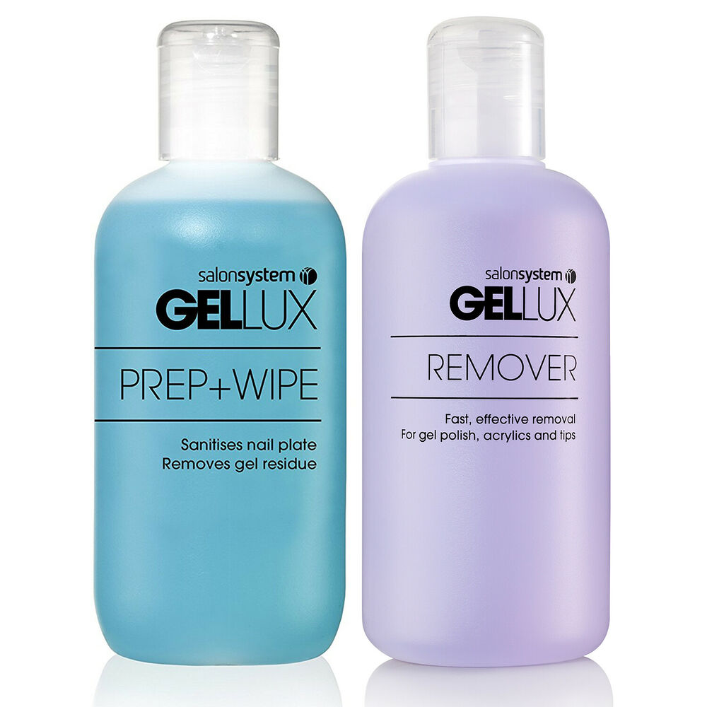 Gellux Uv Led Gel Nail Polish Prep + And Wipe + Nail Gel