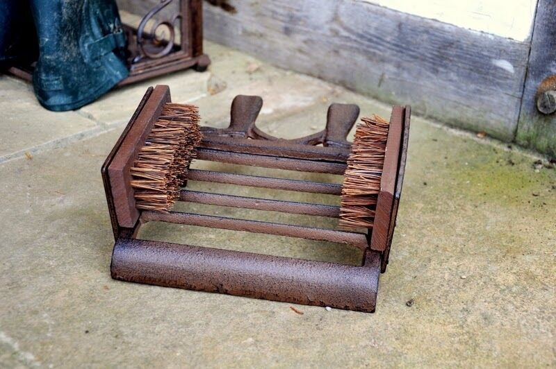 Country Double Cast Iron Sided Bootscraper Scraper