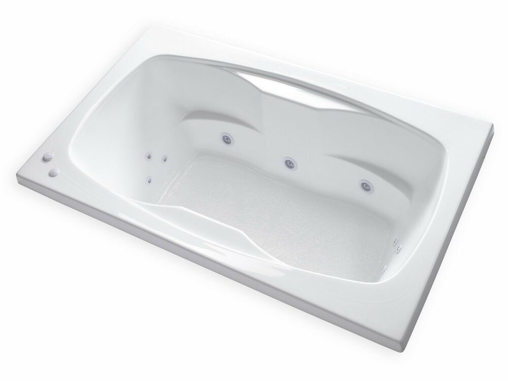 Carver tubs ar6042 60 x 42 drop in center drain 12 for Whirlpool garden tub