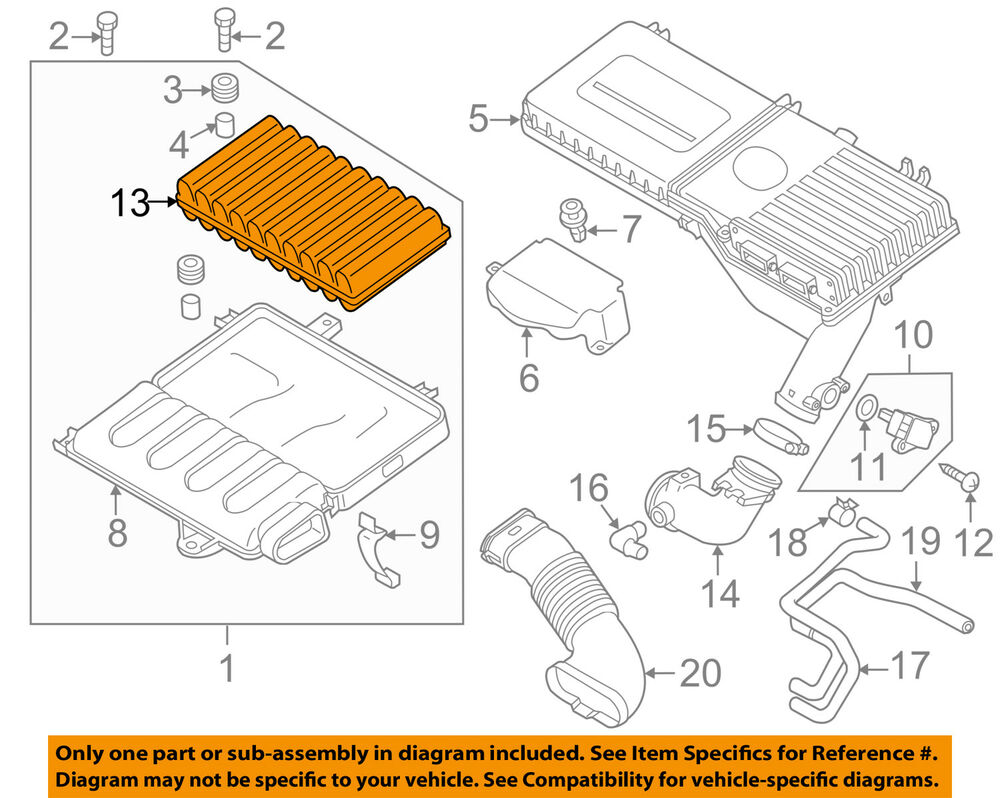 Mazda Oem 11 14 2 Engine Air Filter Element Zj0113z40 Ebay Diagram