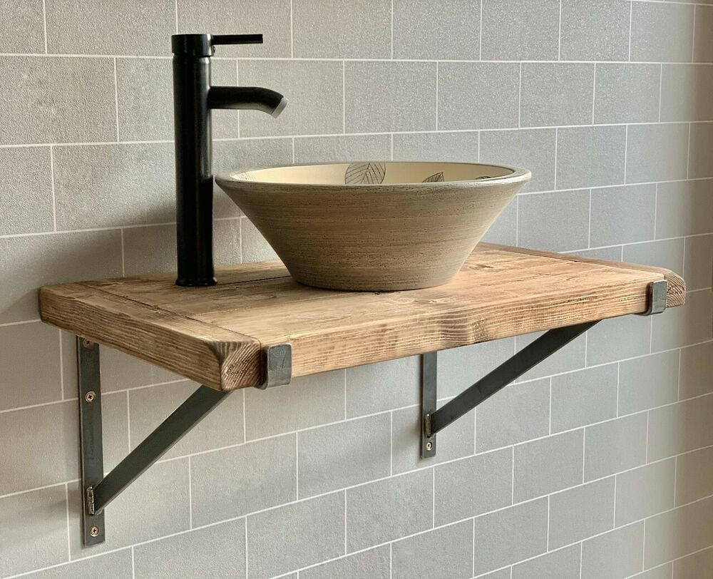 Solid Beam Large Double Basin Vanity Unit Wash Stand Rustic Belfast Butler Sink 5081950874250 Ebay