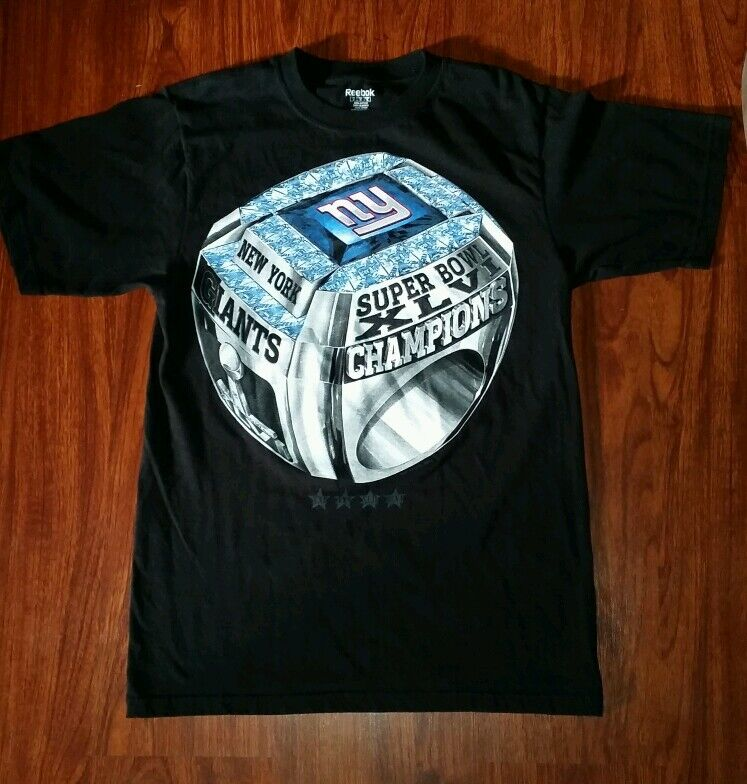 Ny Giants Official Super Bowl Champions Ring T Shirt Black