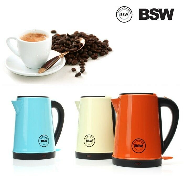 Bsw Electric Kettle 1 2l Cordless Hot Water Tea Pot