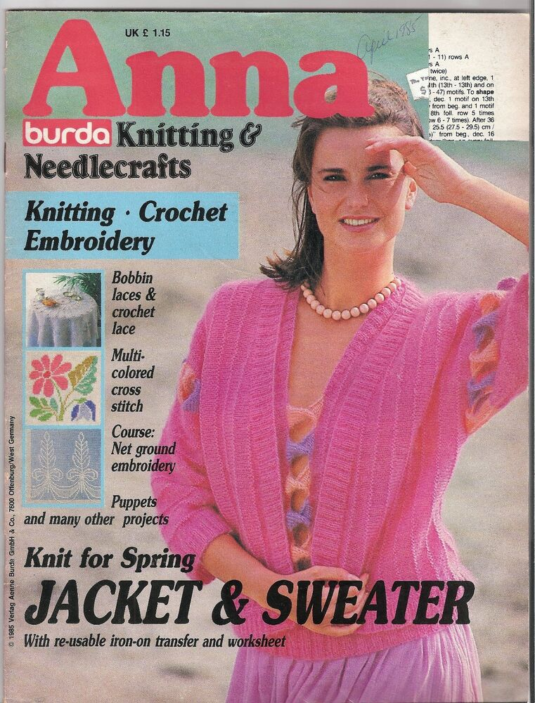 Knitting Magazines List : Vintage anna burda knitting needlecrafts magazine apr