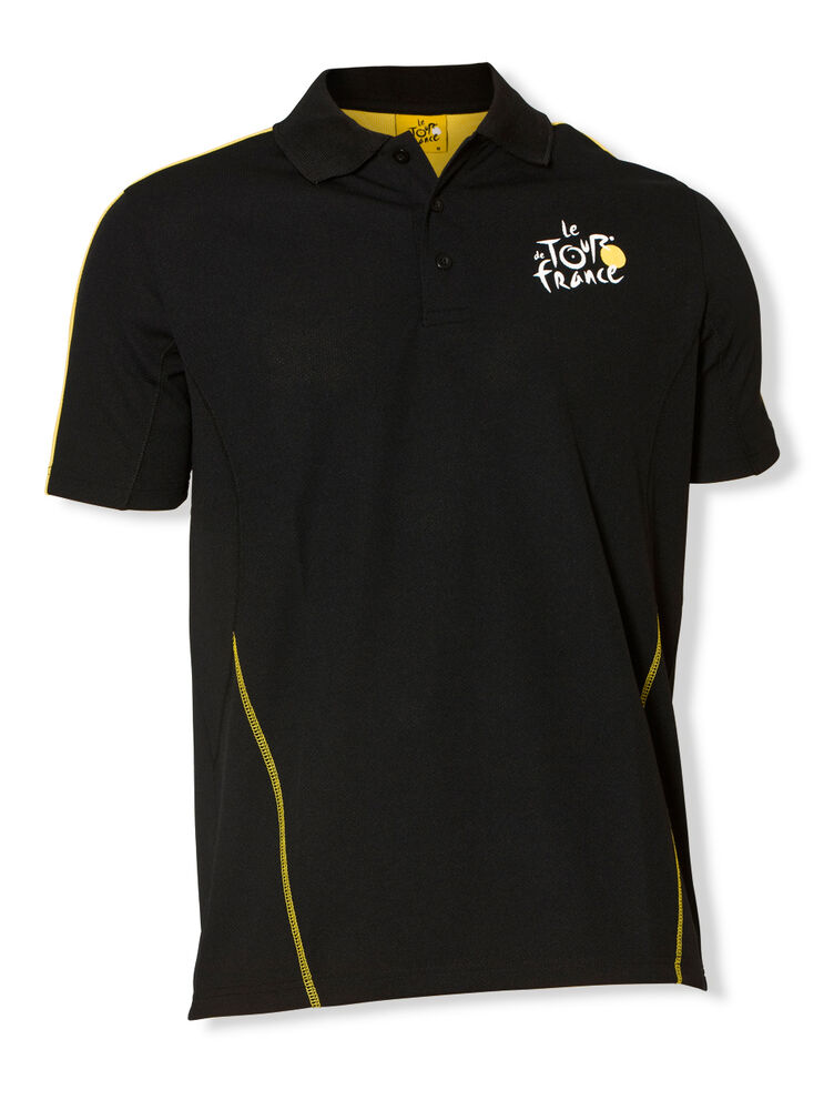 Tour de france sports polo official apparel black ebay for The tour jacket polo shirt