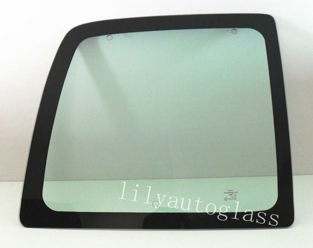 Fit 1996 2002 chevy express van rear back glass window for Back door with side window