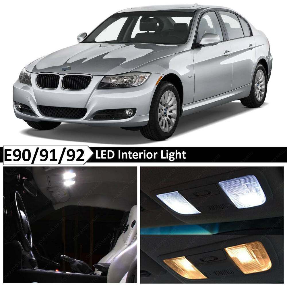 White Interior LED Lights Package For 2006-2011 BMW E90