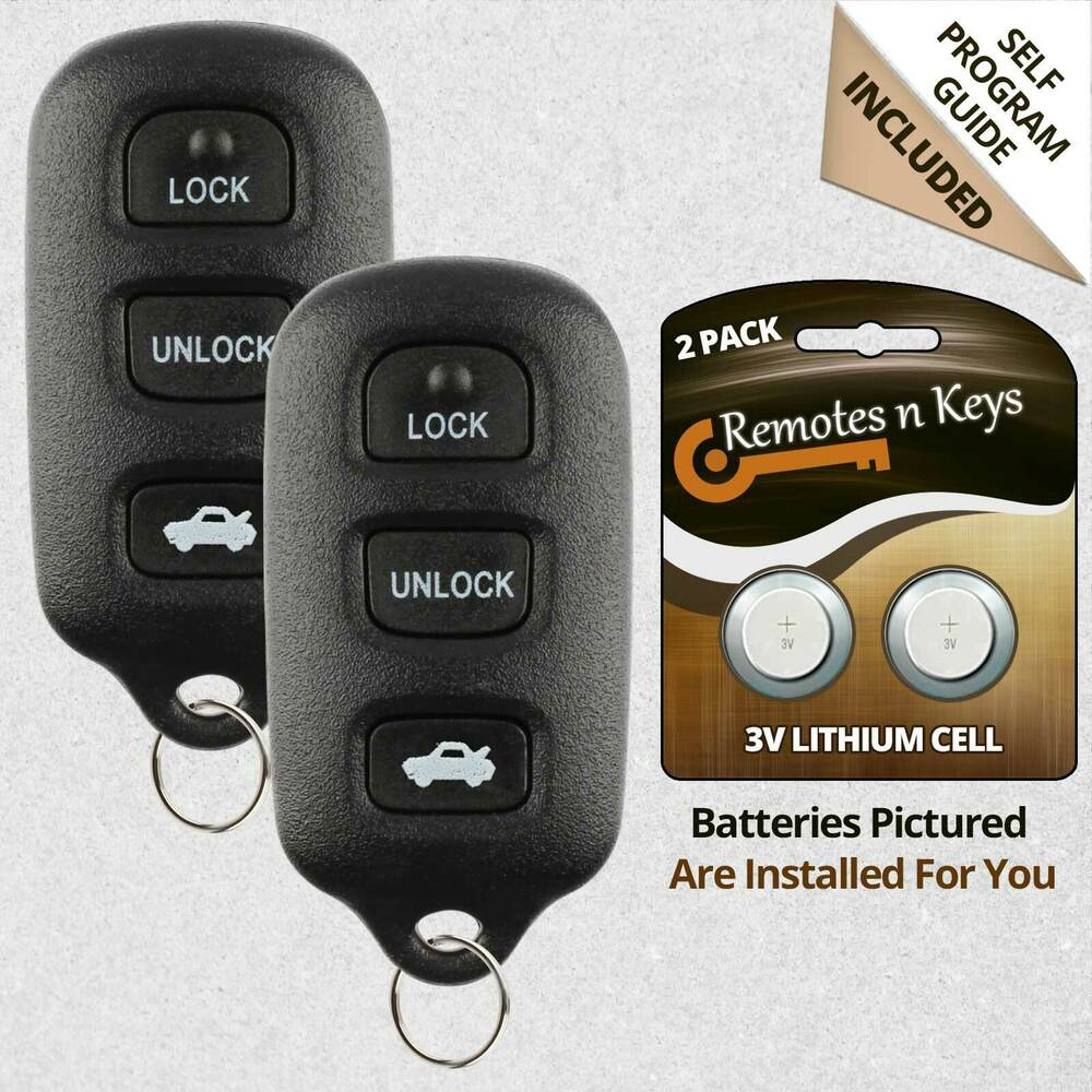 2 new replacement keyless entry car key remote key fob trunk transmitter control ebay. Black Bedroom Furniture Sets. Home Design Ideas