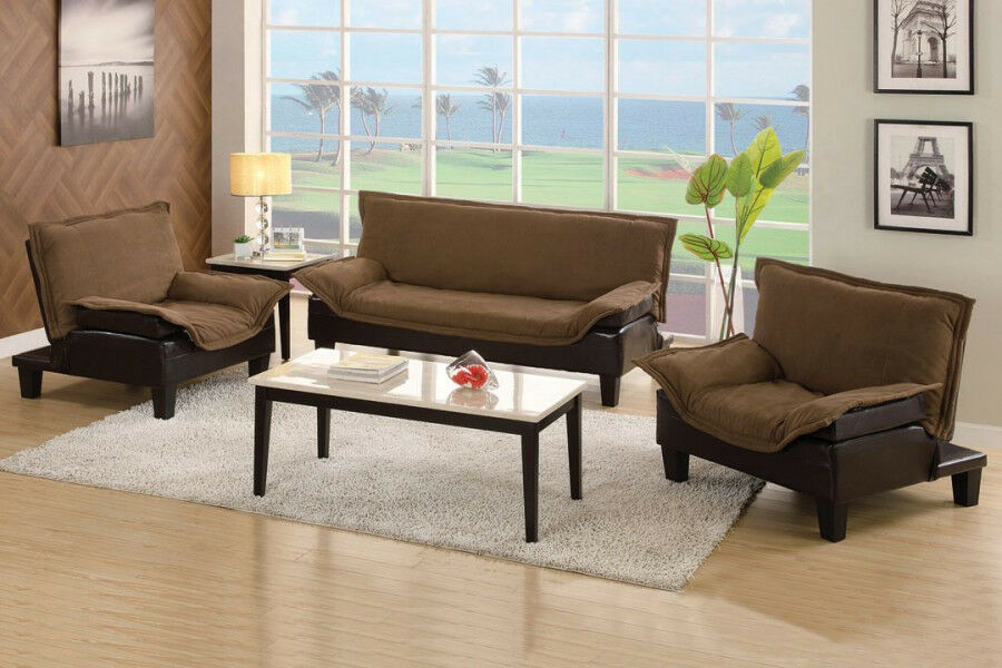 Sofa bed set 3 pc set sectional couch chaise lounge chair for 3pc sectional with chaise