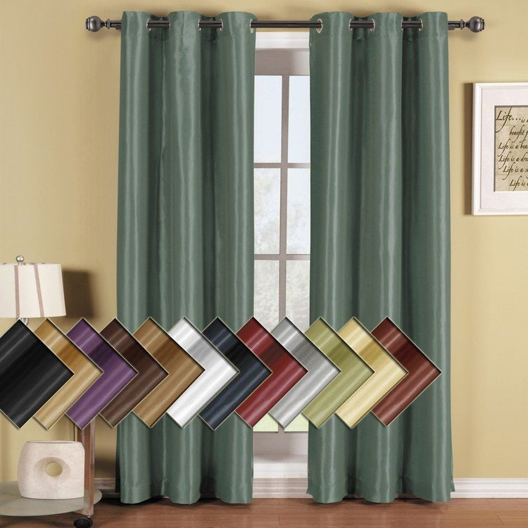 One soho top grommet blackout window curtain panel triple for Where to buy curtain panels