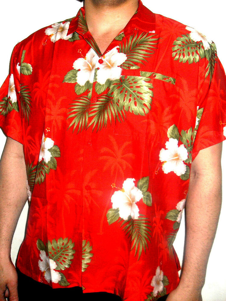 mens sexy red hibiscus floral tropical wedding palmtree