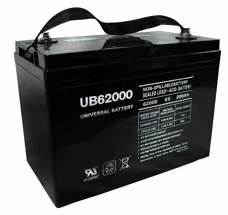 new ub62000 deep cycle 6v 200ah battery 4 champion. Black Bedroom Furniture Sets. Home Design Ideas