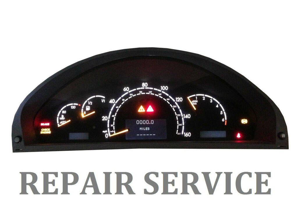 Mercedes w220 w215 1999 2006 s430 s500 cl instrument for Mercedes benz cluster repair