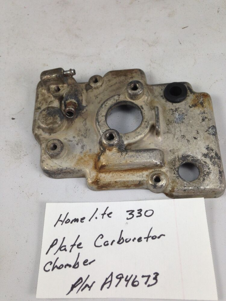 Homelite 330 Chainsaw Plate Carburetor Chamber A94673