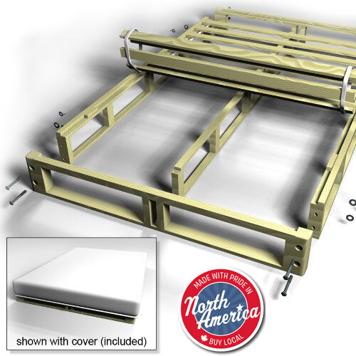 Easy Fit Box Spring bed frame - Collapsible box spring ...