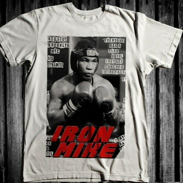 mike tyson t shirt boxing ufc mma thaibox fight. Black Bedroom Furniture Sets. Home Design Ideas