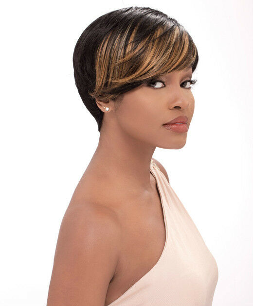 new haircut style sensationnel human hair bump collection wig fab fringe 100 3006