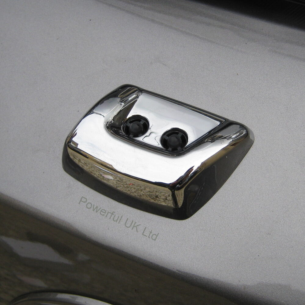 Front Bumper Headlight CHROME WASHER JET COVER For Land