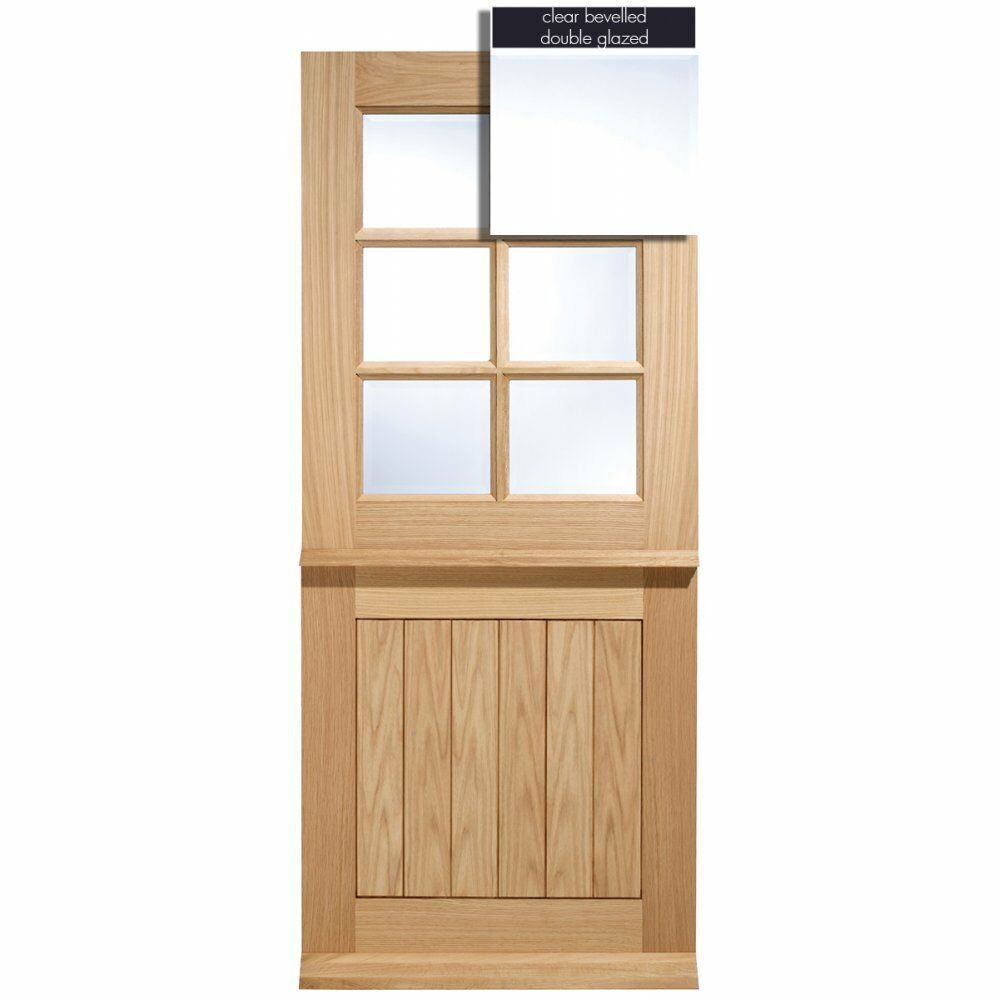 Lpd adoorable oak cottage stable 6 light double glazed for Exterior entry doors