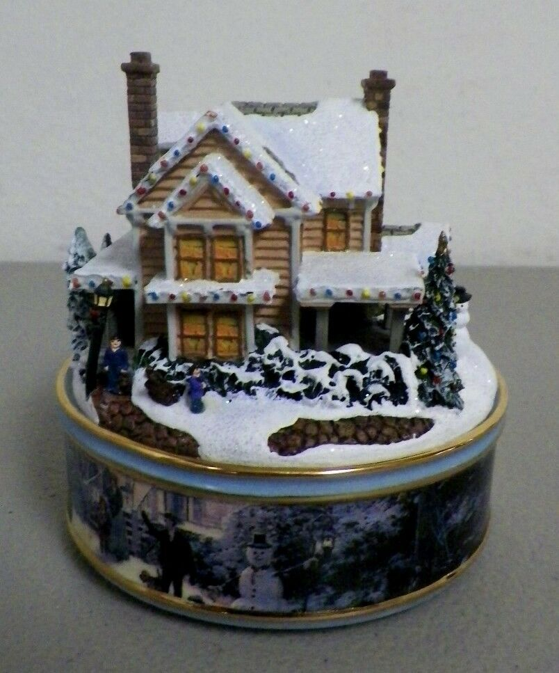 Homestead thomas kinkade heirloom porcelain music box a1181 ebay