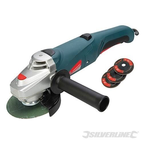 Electric Angle Grinder 3 ~ Heavy duty silverline w quot mm electric angle