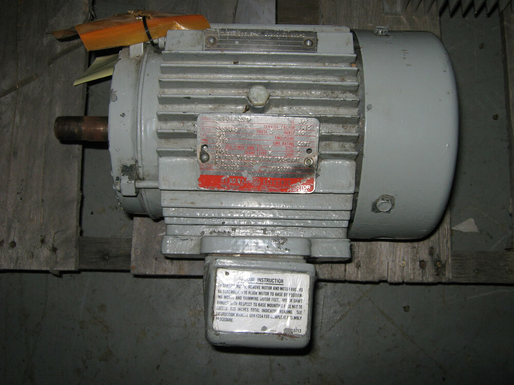Ge induction motor 5k145b8233p 2 hp 1710 rpm 230 460v for 2 hp 3 phase motor
