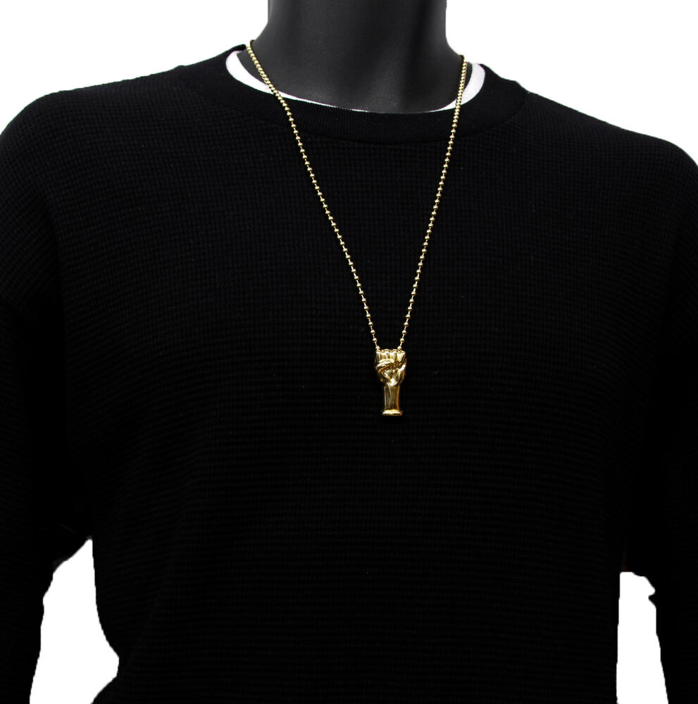 Gold Plated Fist Punch Tight Charm Micro Pendant Ball