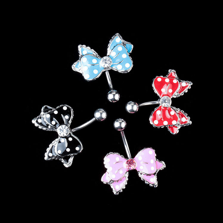 Butterflie Button Barbell Belly Bar Body Piercing Navel Ring Ebay