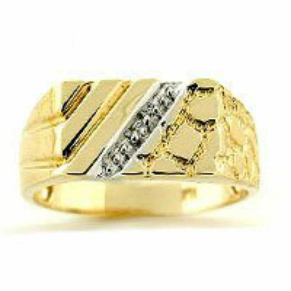 mens diamond ring sterling silver or gold plated silver ebay. Black Bedroom Furniture Sets. Home Design Ideas