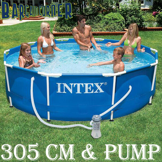 New 3m metal steel frame set above ground intex swimming for Swimmingpool 3m