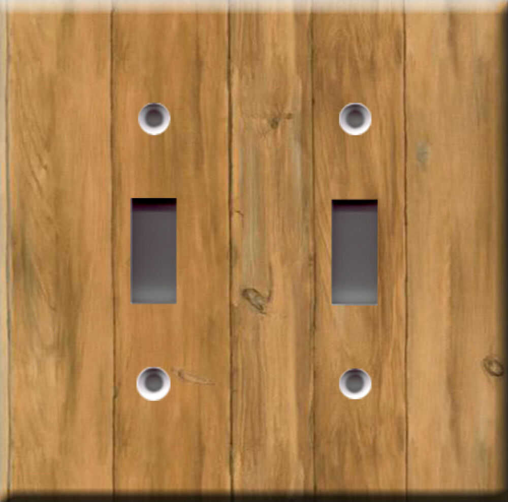 Light Switch Plate Cover Barn Boards Wood Faux Finish