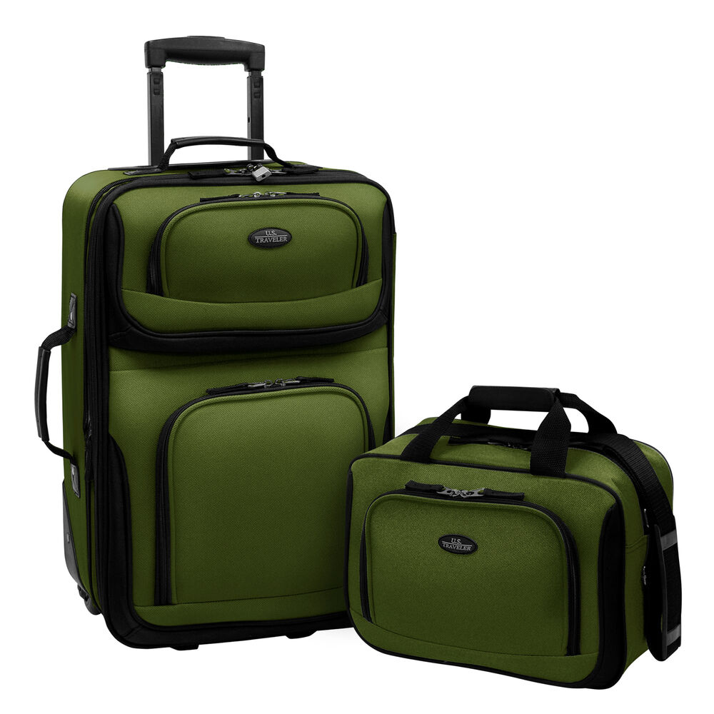 rio green carry on rolling expandable luggage lightweight. Black Bedroom Furniture Sets. Home Design Ideas