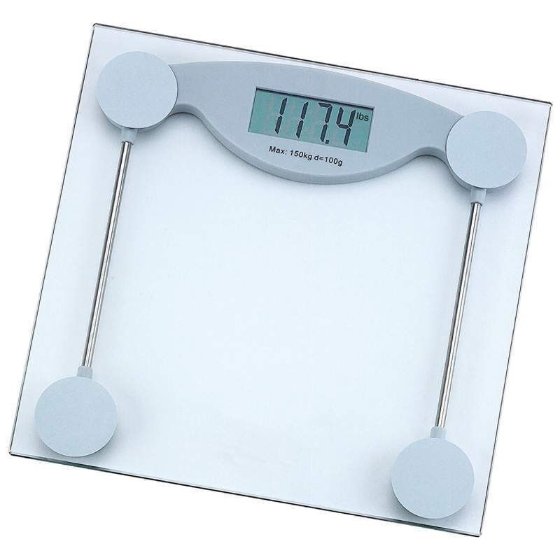 Electronic Bathroom Weighing Scales: 330lb Electronic Body Weight Scale Tempered Glass LCD