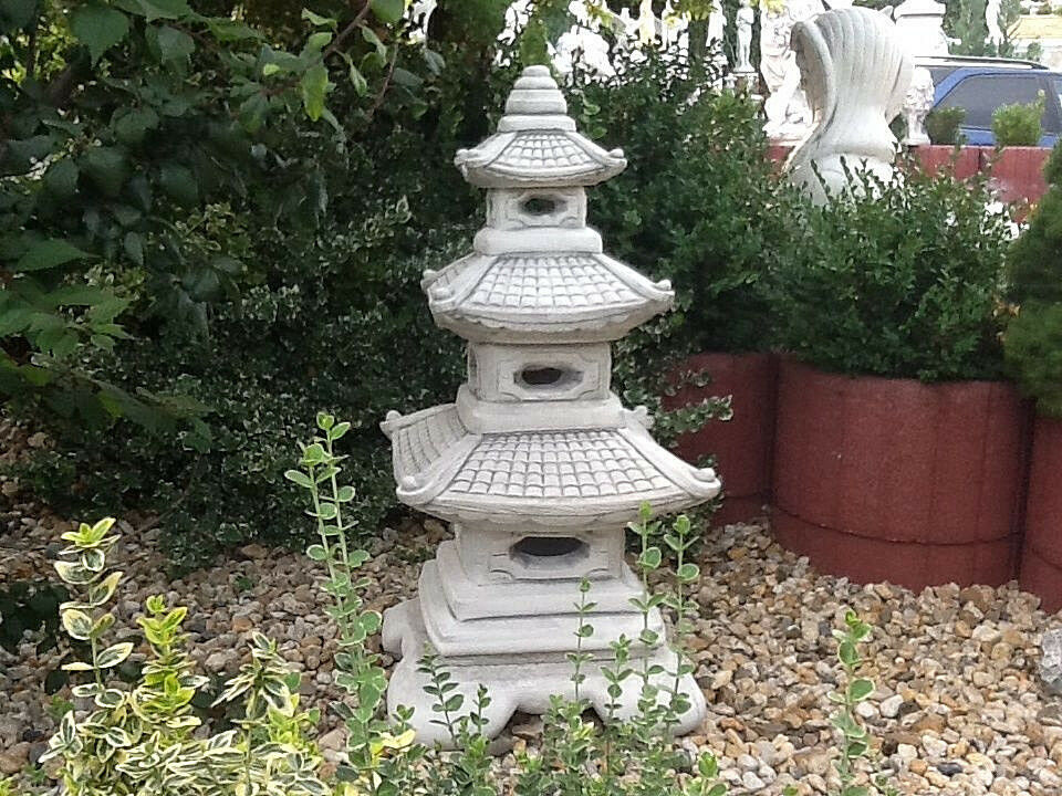 feng shui gartenfiguren steinguss skulptur japan lampe xxl 93 cm gartendeko ebay. Black Bedroom Furniture Sets. Home Design Ideas