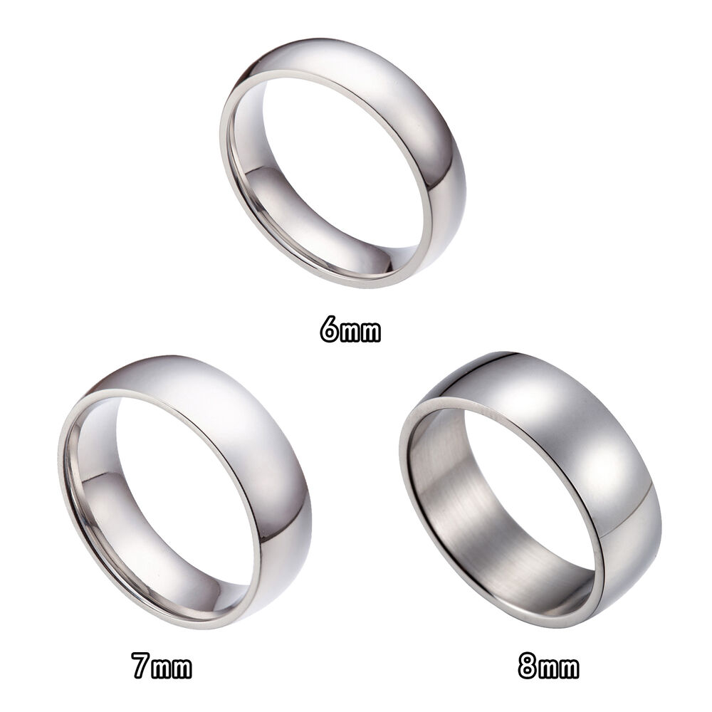 Wedding Band Stainless Steel 8mm: 6MM 7MM 8MM Stainless Steel Wedding Bands Ring Size 6-15