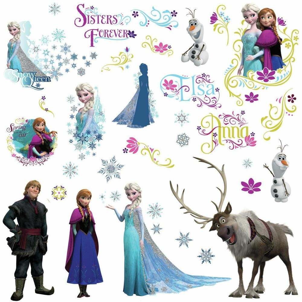 disney frozen movie wall decals olaf elsa anna new 36 15172 | s l1000