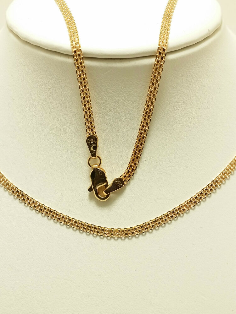 18k Solid Rose Gold Woven Necklace Chain 3 97 Grams Ebay