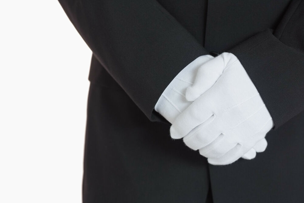 Men&amp--039-s White Formal Dress Gloves Tuxedo Band Marching Parade ...