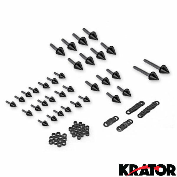 motorcycle spike fairing bolts black kit for 2003