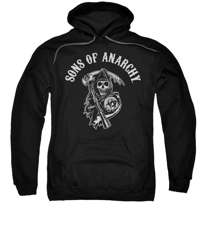 licensed sons of anarchy soa reaper pullover hooded. Black Bedroom Furniture Sets. Home Design Ideas