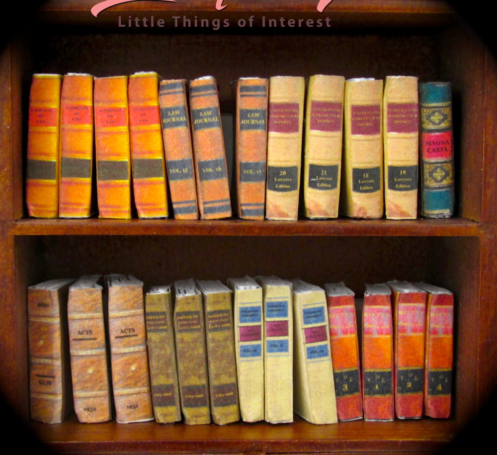LAW LIBRARY 25 Miniature Books Dollhouse 1:12 Scale Fill