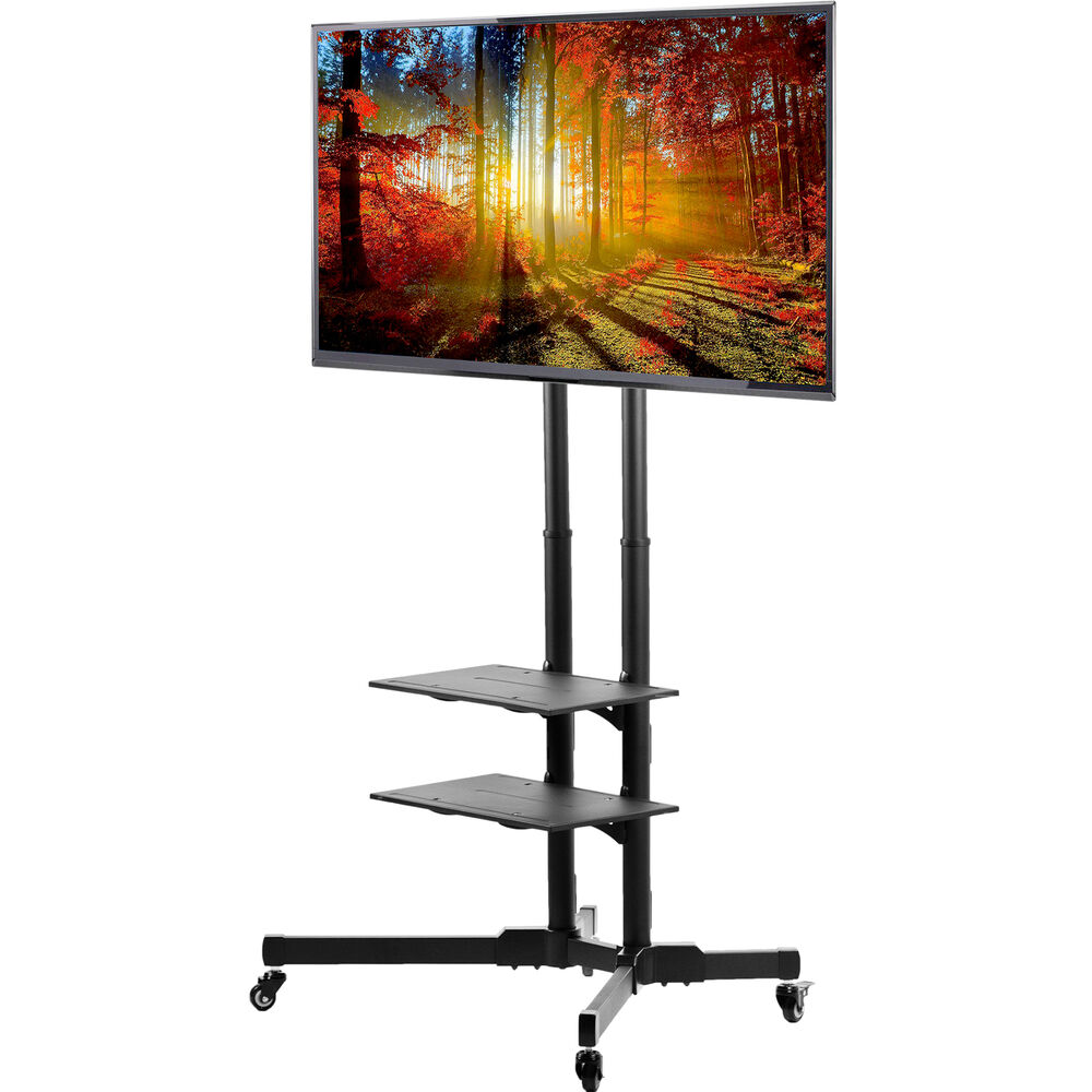 Tv Cart For Lcd Led Plasma Flat Panels Stand With Wheels