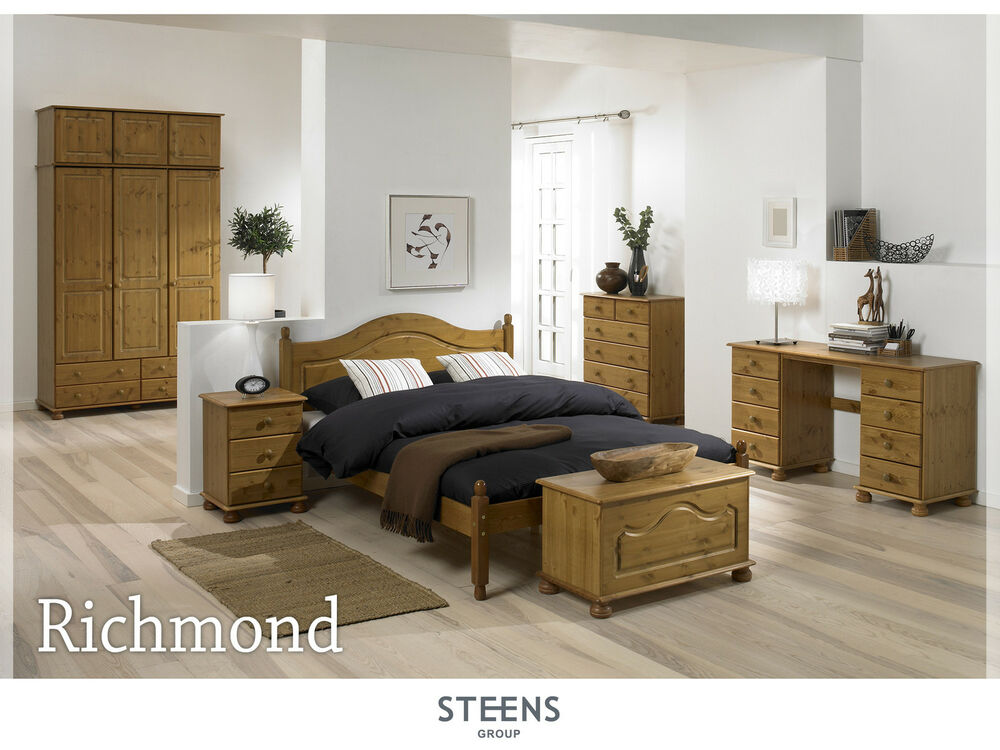 Richmond Pine Bedroom Furniture Wardrobes & Chest Of