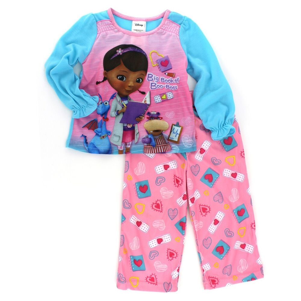 Disney The Doc Is In 4 Piece Doc Mcstuffins Toddler: Disney Junior Doc McStuffins Toddler Girls Pink Pajamas